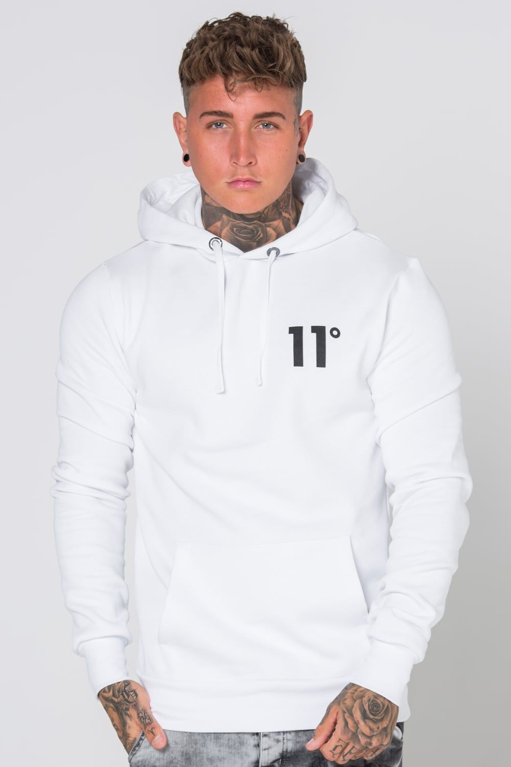 270480a22f 11 Degrees Core Pull Over Hoodie - White
