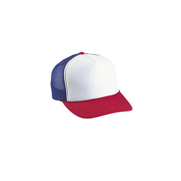 89774d1eb One Dozen (12) Blank Classic Red White & Blue Trucker Hats Decorator ...