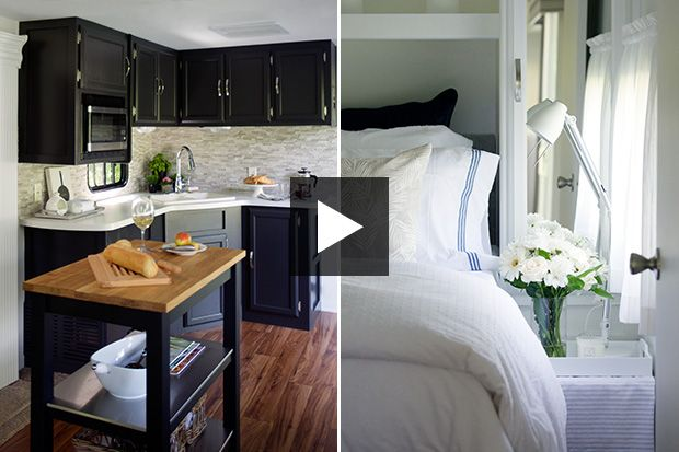 See How Designer Jackie Gl Transformed A 450 Square Foot Trailer Into Stylish Micro Home Get Her Expert Small E Decorating Tips