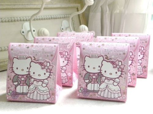 Hello Kitty Wedding Gift: 6pcs Sanrio Hello Kitty & Dear Dainel Paper Wedding Favor