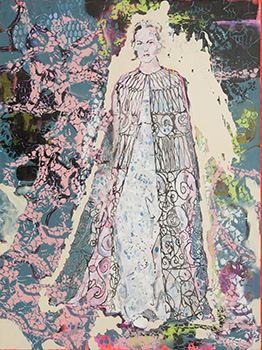 rosebud, Acryl und Lack auf Leinwand, 120 x 90 cm
