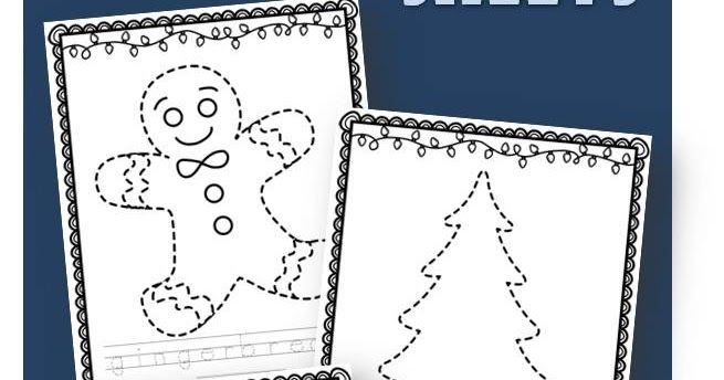 FREE Christmas Tracing Sheets Tracing Sheets, Free Christmas, Winter  Crafts