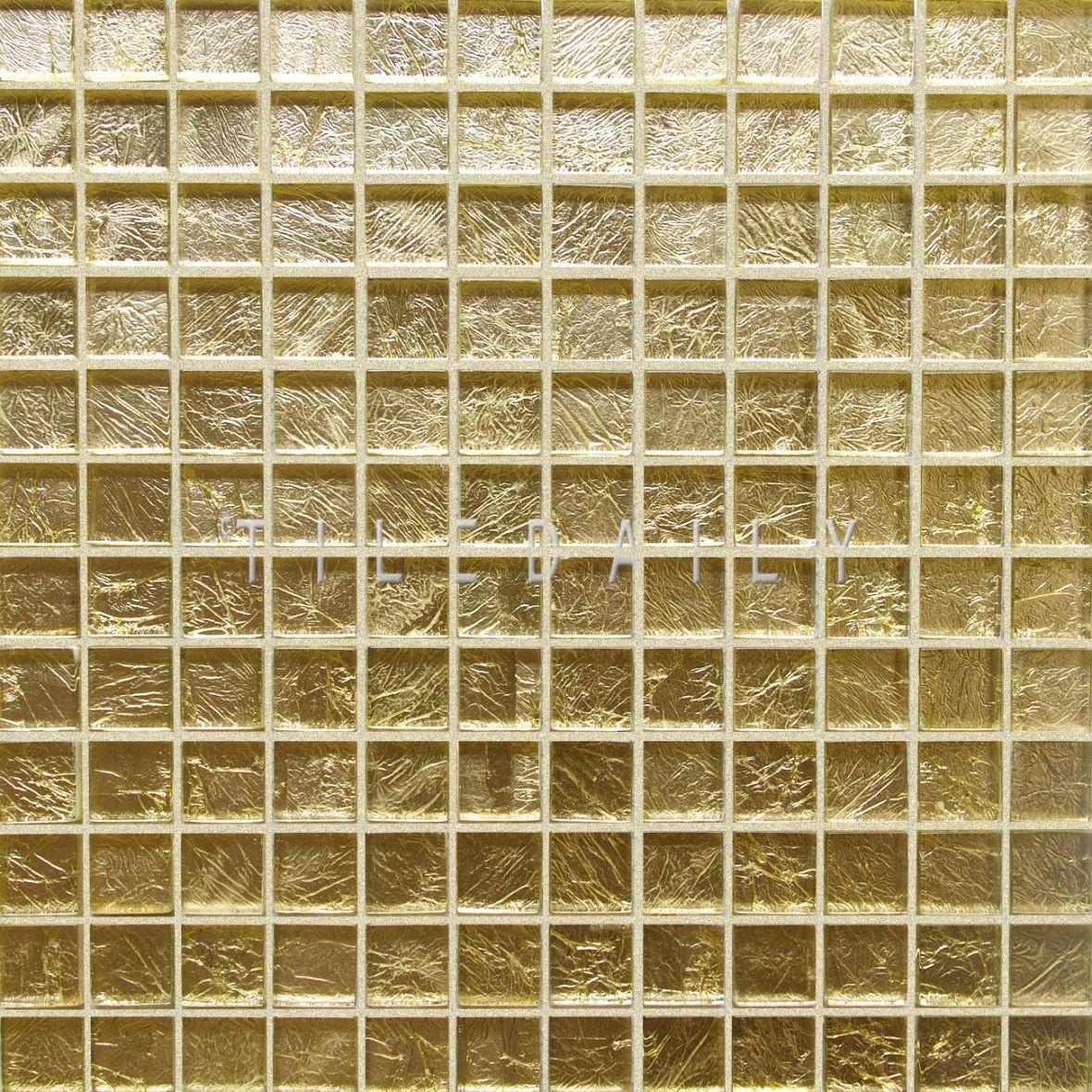 - Gold Foil Square Glass Mosaic Mosaic Glass, Gold Tile, Glass