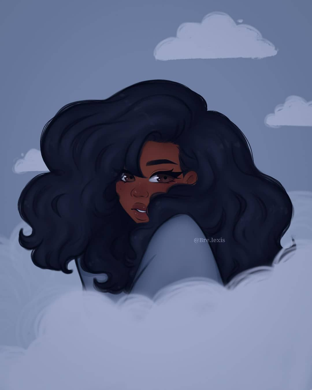 Black Girl Aesthetic Drawing : black, aesthetic, drawing, Art,fandoms,and, Writing, Inspiration
