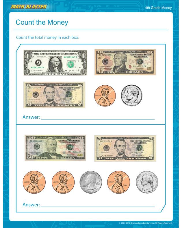Count The Money Free Printable Money Worksheet For 4th Grade Money Worksheets Kids Math Worksheets Math Addition Worksheets