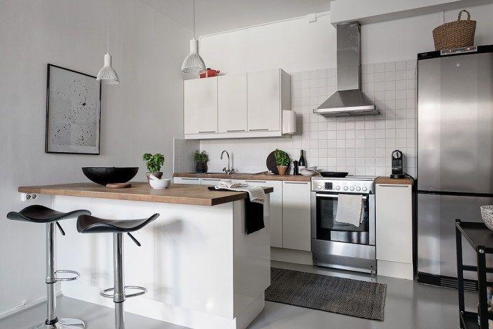 50 M Con Planta En Forma De C Interior De Cocina Decoracion De