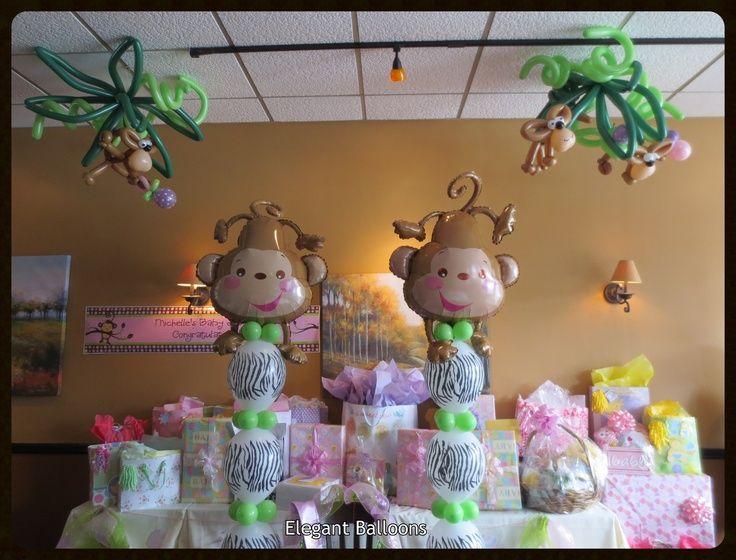 tropical theme baby shower  google search  monkey birthday, Baby shower invitation