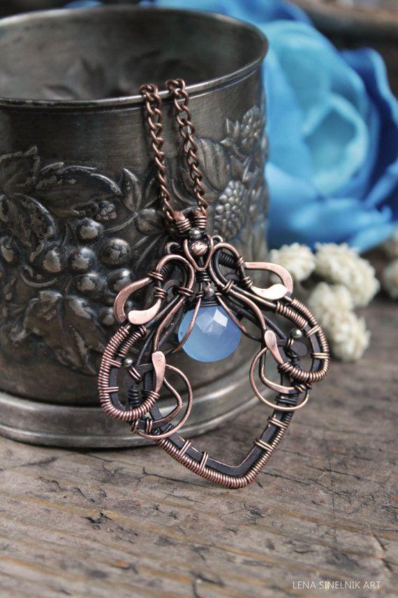 Etsy listing at https://www.etsy.com/listing/211823231/wirewrap-pendant-wire-jewelry-chalcedony