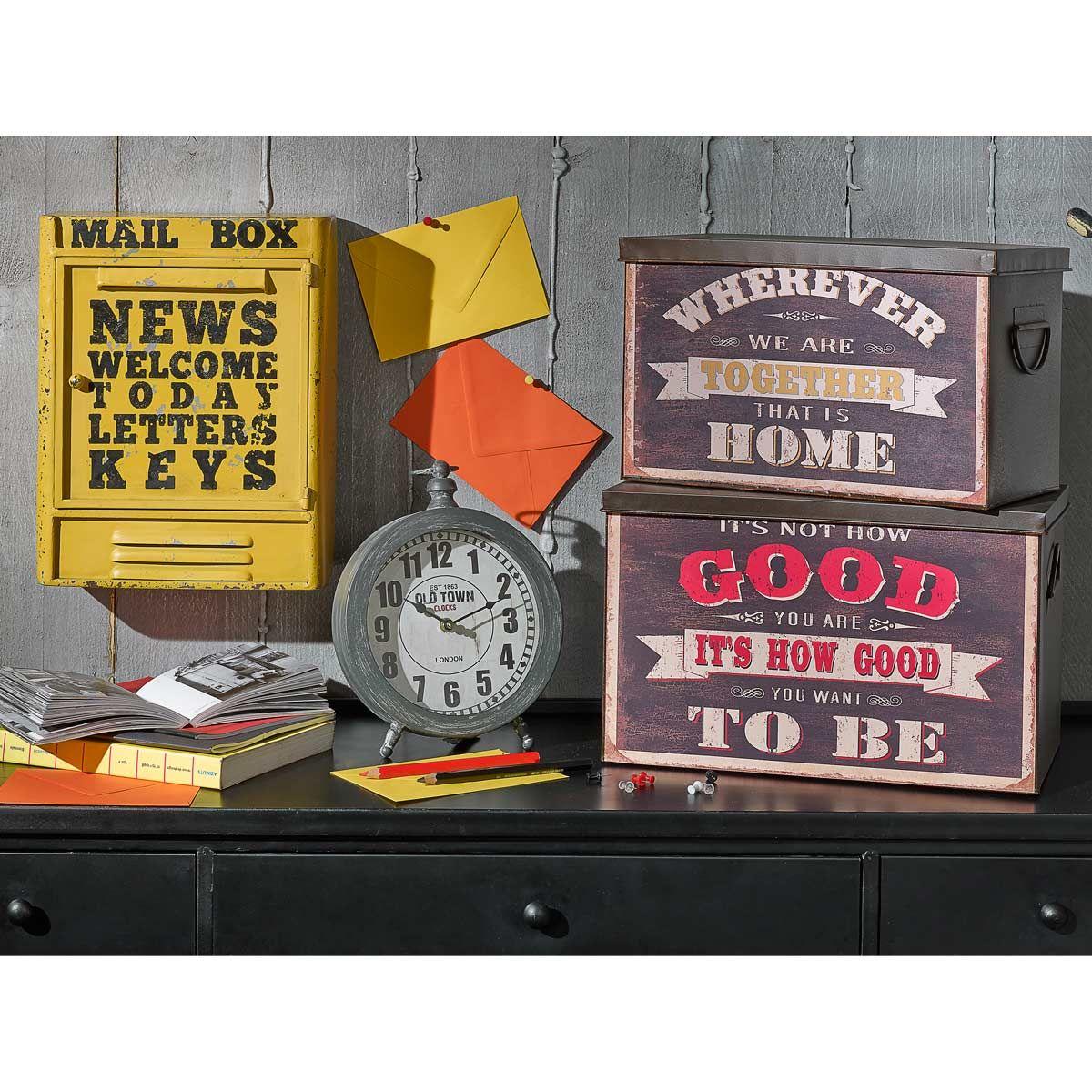 fabulous bote cls en mtal jaune h cm mail box maisons du. Black Bedroom Furniture Sets. Home Design Ideas