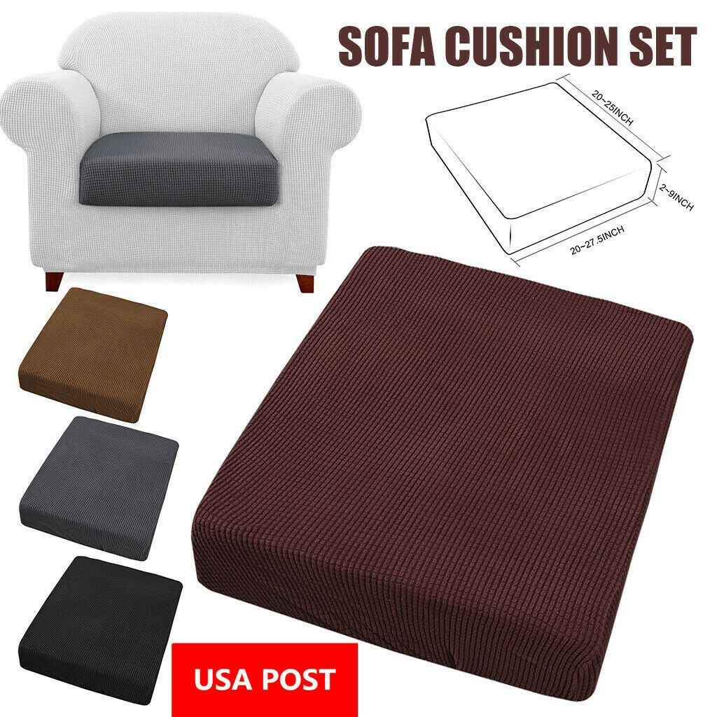 Stretchy Sofa Seat Cushion Cover Couch Slipcovers Protector Fabric Replacement Sofa Slipcover In 2020 Replacement Sofa Cushions Slip Covers Couch Sofa Seat Cushions