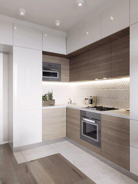 Small Kitchen layout ideas, mezzanine, one wall, galley