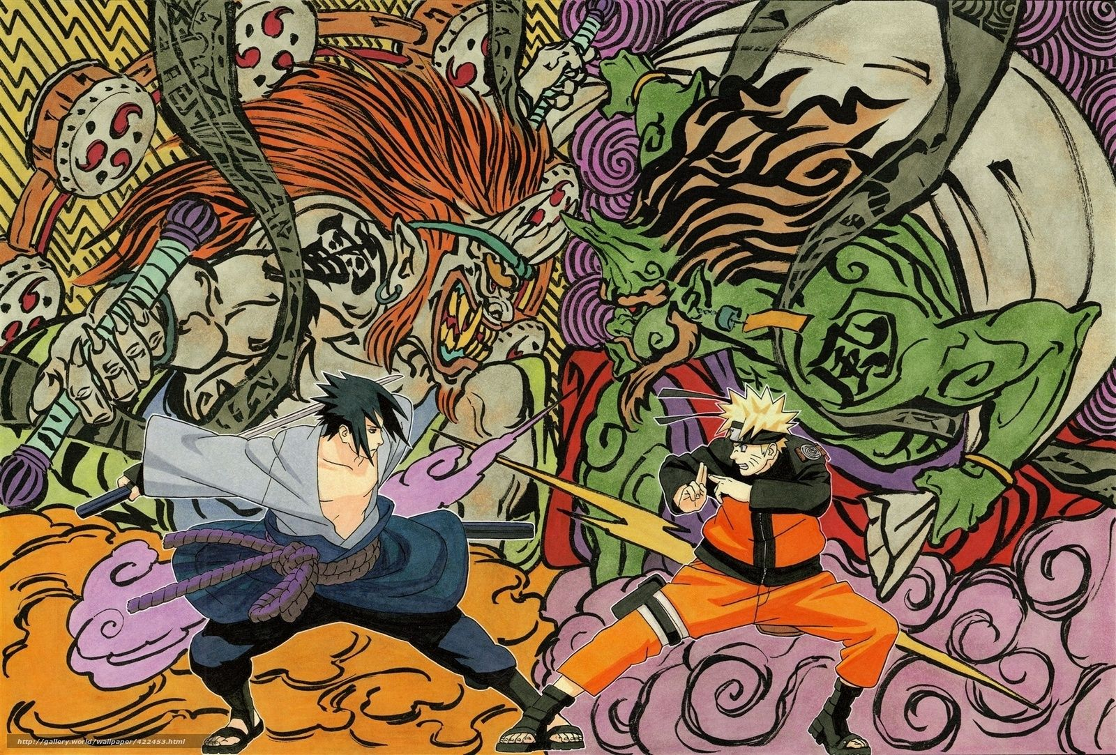 壁紙をダウンロード うちはサスケ うずまきナルト 日本製アニメ