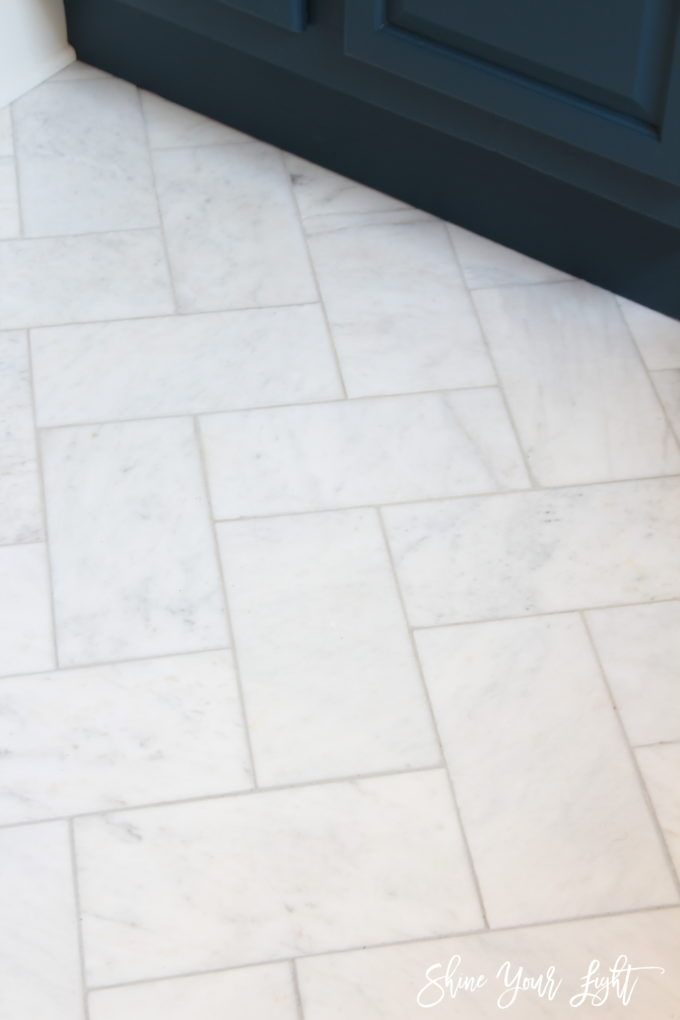 Large Herringbone Marble Tile Floor A Great Tip To Diy It For Less Shine Your Light