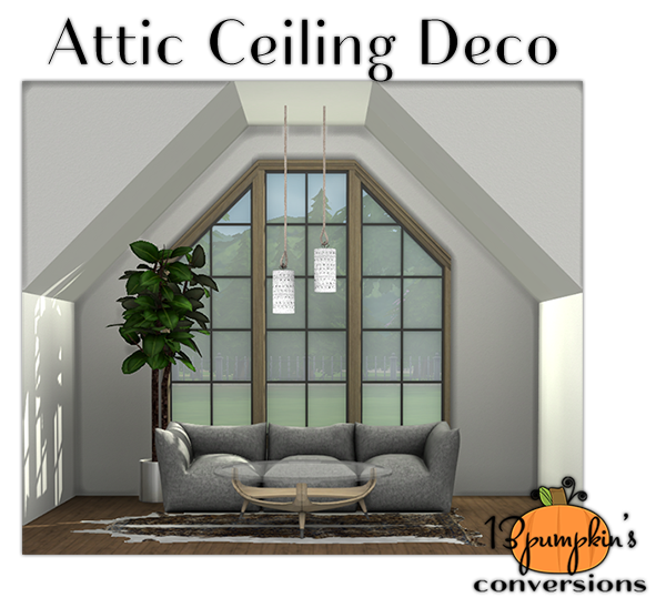 Holzvertäfelung Ideen Sims 4 Cc's - The Best: Attic Ceiling Deco By 13pumpkin31