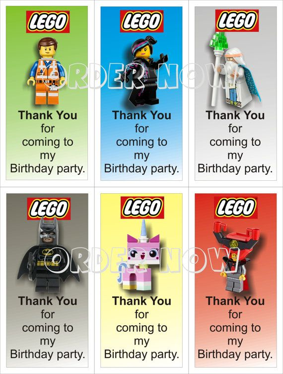 Lego Movie Thank You For Coming To My Birthday Party Cards Diy