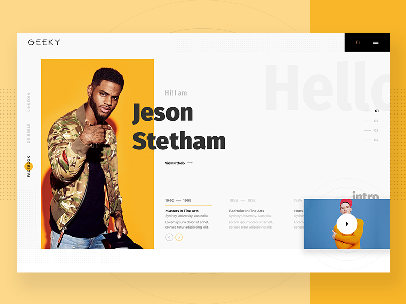 E Portfolio Banner Design Banner Design Clean Web Design Portfolio Web Design