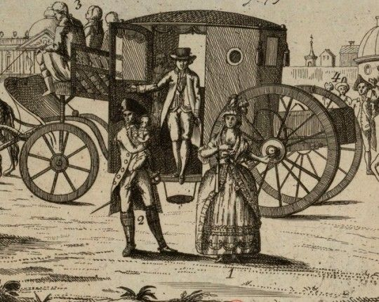 Detail Of A Print Depicting The Return Of The Royal Family To Paris After The Flight To Varennes Ancient Dead King Famous People
