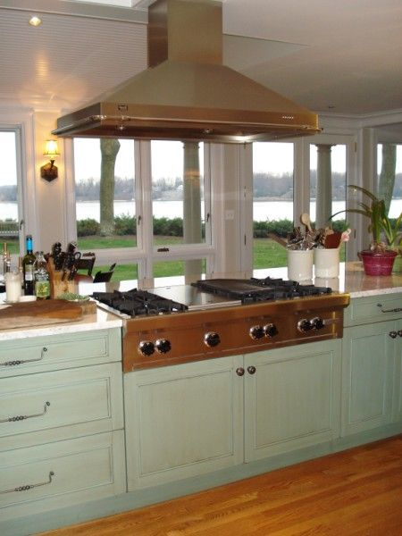 Island Cooktop Hood Over Wolf Range Top
