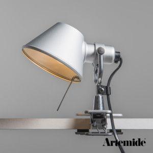 Artemide Tolomeo Micro Pinza Aluminio Lampara De Pinza Artemide Tolomeo Micro Pinza Es Un Diseno Clasico De Artemide Disenado Klemmlampe Klemmleuchte Lampe