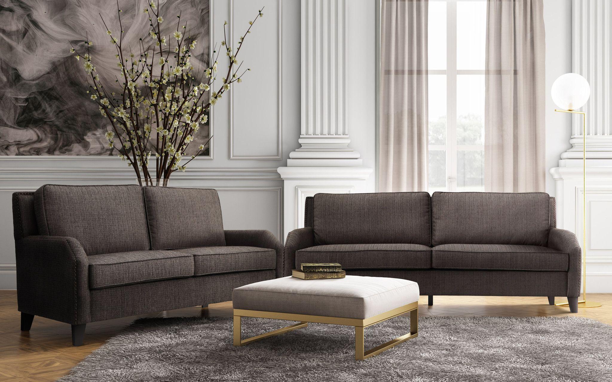 nova metallic beige linen ottoman vagabond furniture pinterest