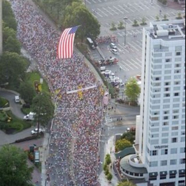 The Peachtree Road Race is a 10K road race held annually in