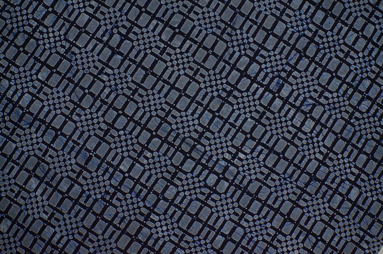 Vintage Japanese kimono fabric Pine needle indigo cotton yukata fabric