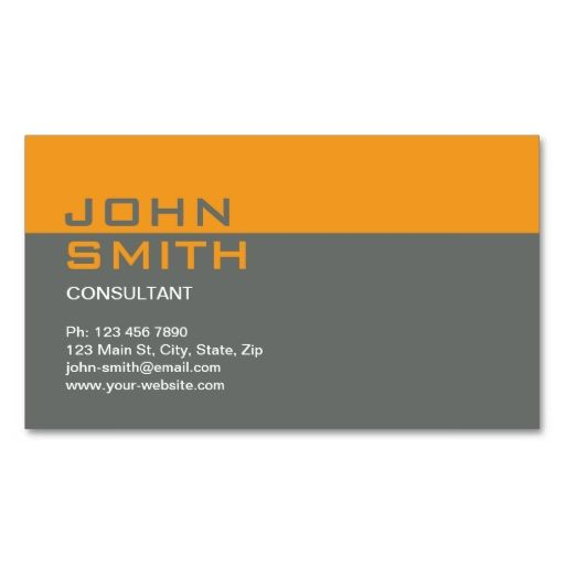 Construction Builder Contractor Mechanic Plain Business Card - Plain business card template
