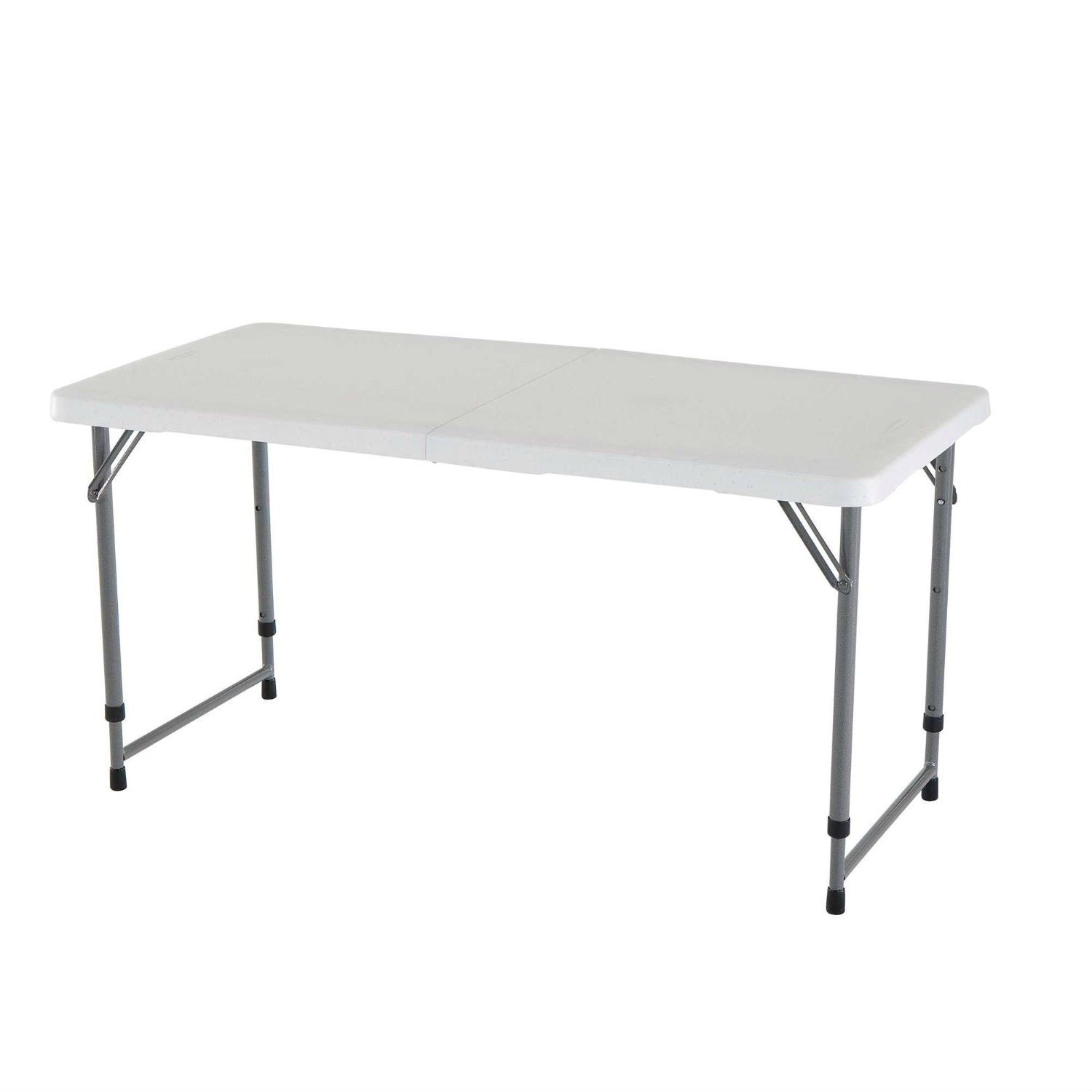 - Lifetime 4-Foot Light Commercial Fold-In-Half Adjustable Table