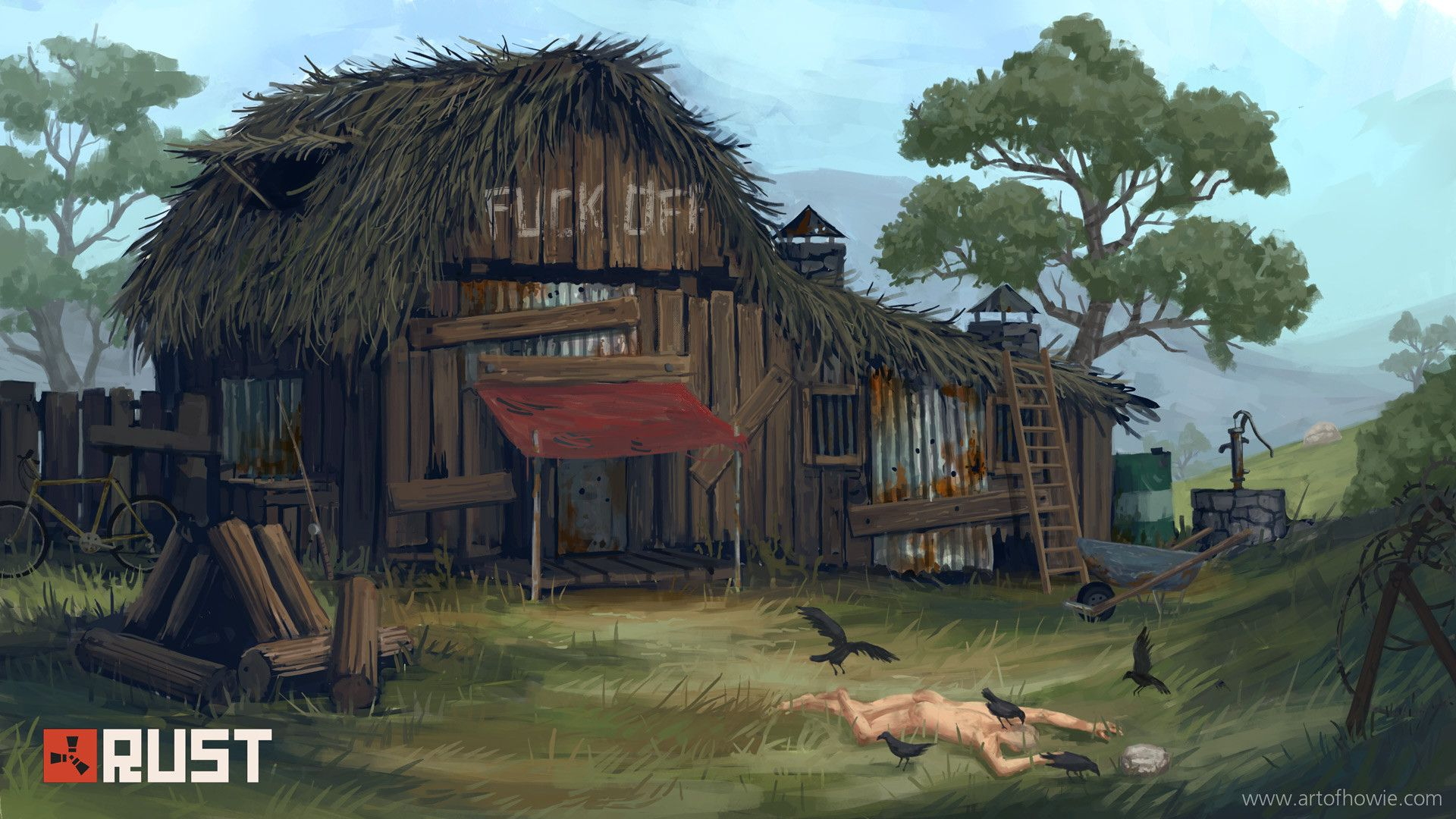 Rust By Facepunch Studios Steam Game Survival Game Artwork