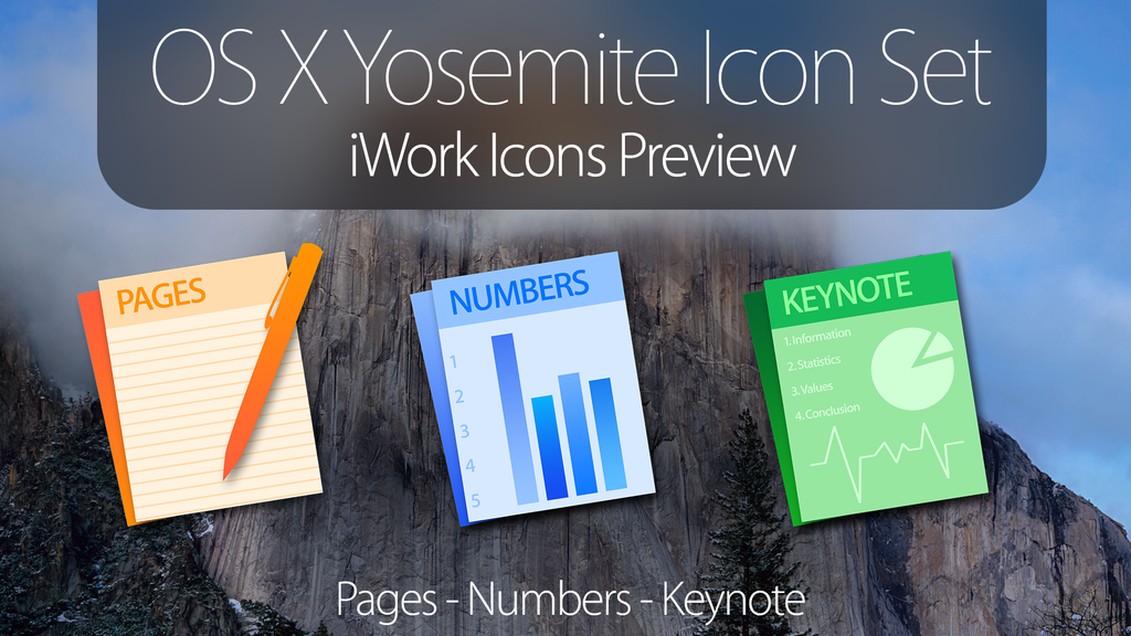 OS X Yosemite Icons - iWork Applications Download by