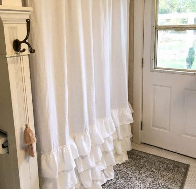 23 Shabby Chic Shower Curtain Ideas For Romantic Bathroom Shabby