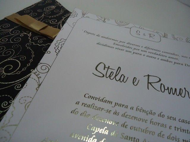 Convite De Casamento Hot Stamp Digital Casamento Stela Pinterest