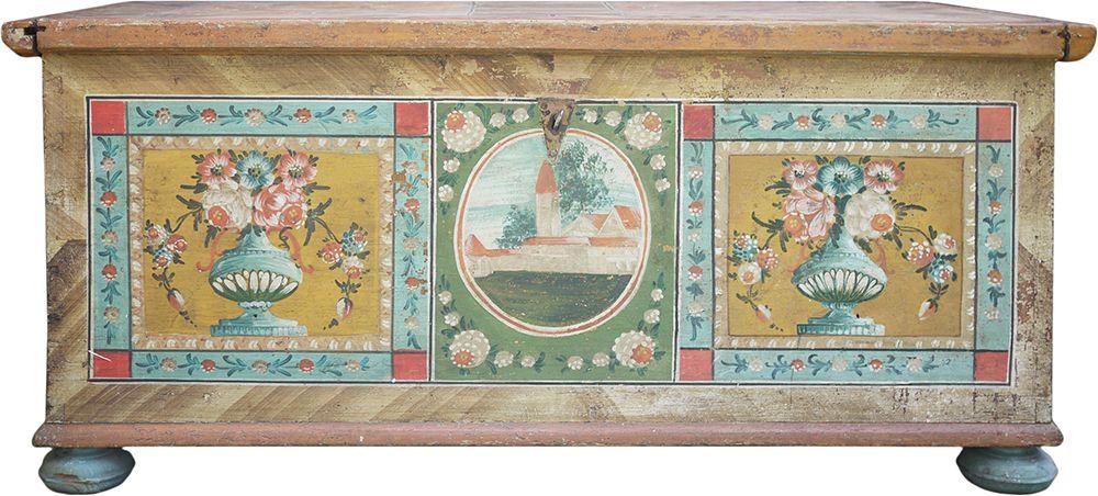 Cassone tirolese originale antico, vendita online mobili d ...