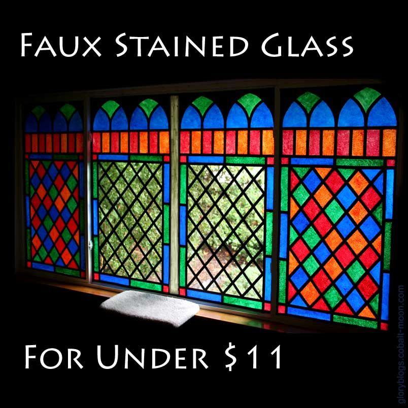 Dyi faux stained glass super easy this technique uses for Can i paint glass with acrylic paint