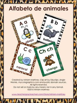 Carteles Del Abecedario Con Animales Animal Spanish Alphabet Posters Teaching The Alphabet Spanish Lessons Alphabet Coloring Pages