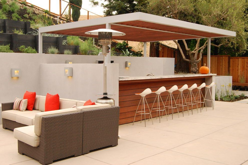 shed bar ideas patio contemporary with stone wood planters steel arbor l23 bar