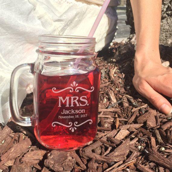 tea wedding favors personalized mason jar mugs rustic favors