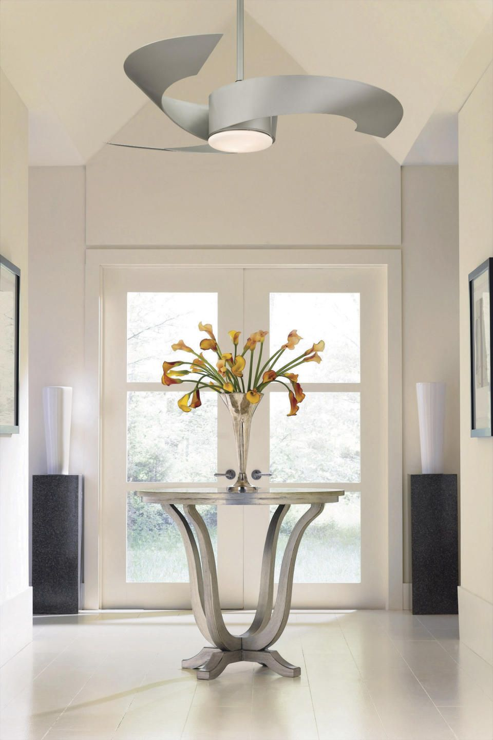 Foyer Ceiling Fans : Country eclectic modern entrance foyer design photo by