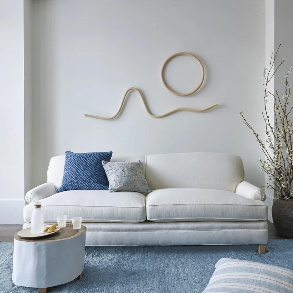 One Sofa Styled Three Ways Sofa Styling Sofa Neutral Sofa
