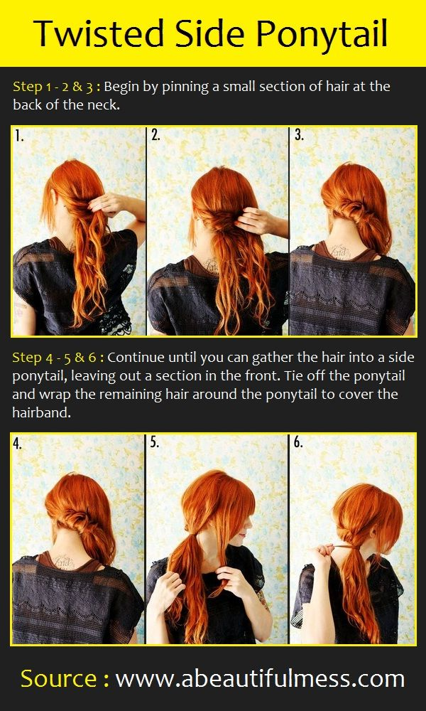 Twisted Side Ponytail | Pinterest Tutorials