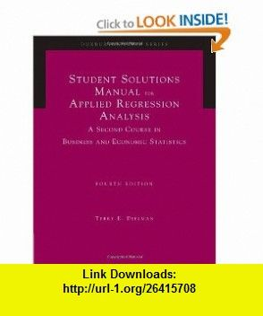 Student solutions manual for applied regression analysis 4th student solutions manual for applied regression analysis 4th edition 9780534465506 terry e fandeluxe Image collections