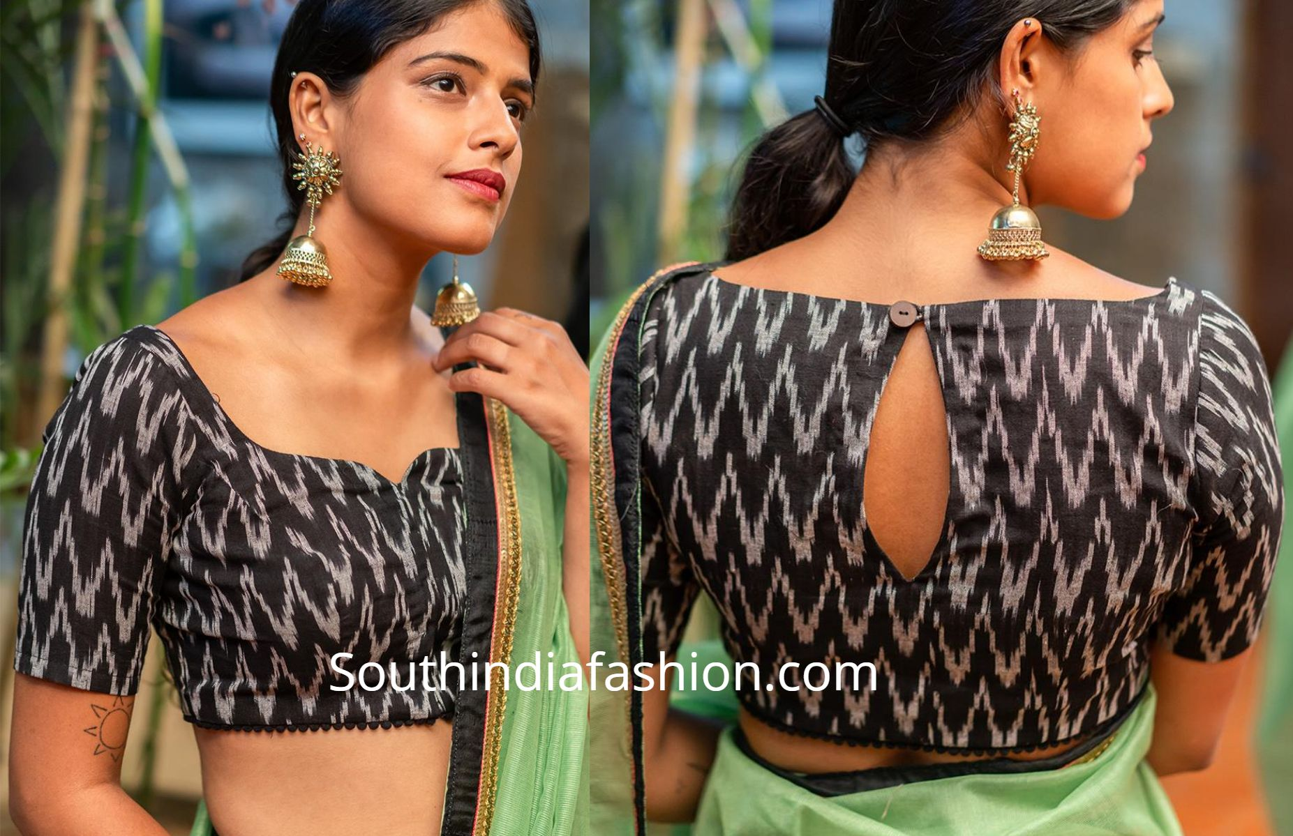 10 Stylish Readymade Cotton Blouse Designs 2019 For Summer! #blousedesigns