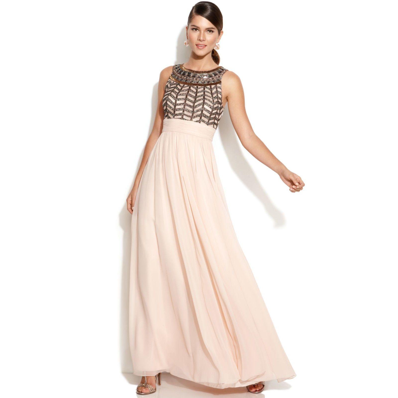 JS COLLECTION Beaded Empire Waist Gown   Dress   Pinterest   Empire ...