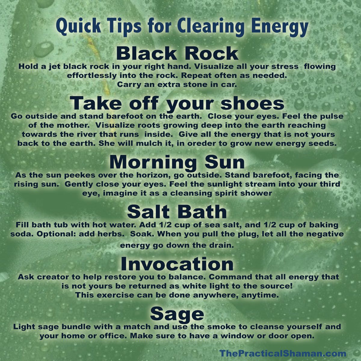 To Cleanse Negative Energy Clearing