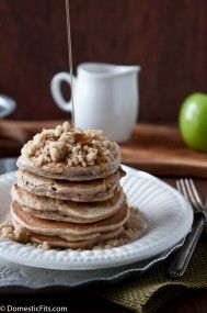 Apple Streusel Pancakes