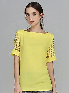 4038ac481 Mulheres Blusa Casual Plus Sizes   Moda de Rua Verão