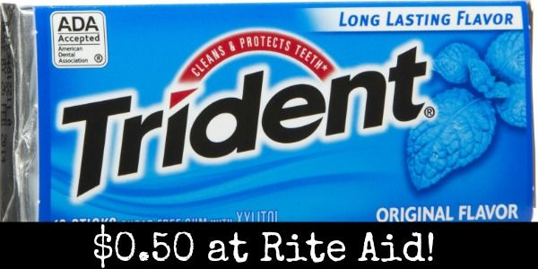 Rite Aid: Trident Gum Only $0.50! - http://wp.me/p56Eop-Qtm