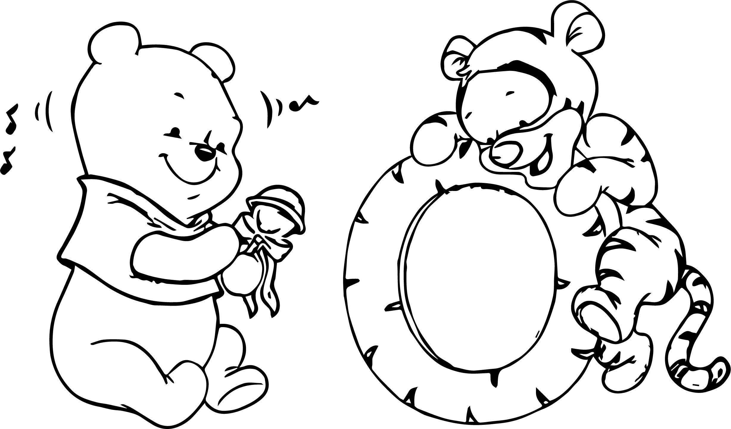 cool Baby Tigger Winnie The Pooh Music Coloring Page