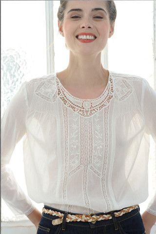 Des Petits Hauts Iepi Ecru Blouse | blouses | Fashion ...