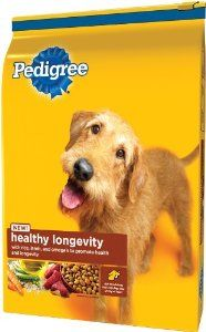 Pedigree Healthy Longevity Dry Food For Dogs 15lb Bag Review Dog